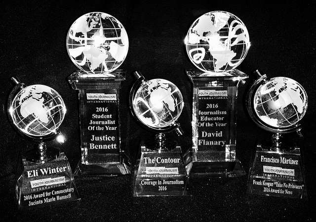 2016 YJI Journalism Contest Trophies
